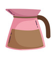coffee brew kettle maker isolated icon style vector image vector image