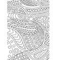 coloring book page with abstract oriental pattern vector image vector image