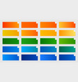 common color gradients pack orange green and vector image