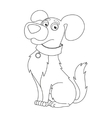 Cute dog coloring book page for children vector image