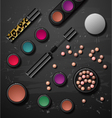decorative cosmetics make up accessories beauty vector image vector image