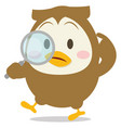 detective owl character vector image vector image