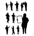 doctor and nurse gesture silhouette vector image