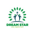 dream star logo designs tree vector image vector image