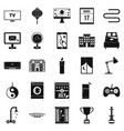 dwelling icons set simple style vector image vector image