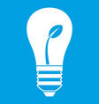 ecology idea bulb with plant icon white vector image