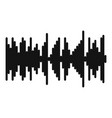 equalizer vibration icon simple black style vector image vector image