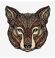 Ethnic ornamented jackal coyote wolf or dog vector image