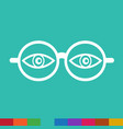 eye glasses icon sign design vector image vector image