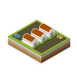 farm isometric dimensional vector image vector image