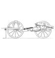 Field gun vintage engraving vector image