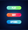 flat gradient coloful button for mobile web game vector image vector image