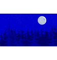 forest blue moonlit night vector image vector image