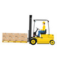 forklift with extensions vector image vector image