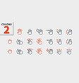 gesture view outlined pixel perfect well-crafted vector image vector image