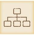Grungy scheme icon vector image vector image