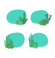 hand drawn desert cacti plants vector image