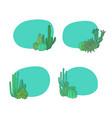 hand drawn desert cacti plants vector image vector image