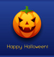 happy halloween angry pumpkin vector image