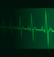 heart rate heartbeat neon line green graphic vector image
