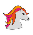 horse with two tone mane icon image vector image