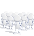Human icons with leader vector image vector image