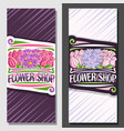layouts for flower shop vector image