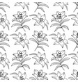 lily seamless pattern elegant lilies drawn a vector image vector image