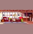 loft lounge room interior vector image