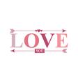 love you arrow word vector image