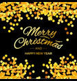 merry christmas and happy new year lettering for vector image