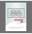 Merry Christmas Invitation Card design template vector image vector image