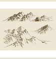 mountains ranges set a collection of nature vector image vector image