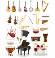 musical instruments set icons stock vector image vector image