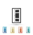 open door icon isolated on white background vector image vector image