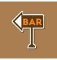 paper sticker on stylish background bar sign vector image vector image