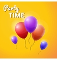 party time inscription with balloons vector image vector image