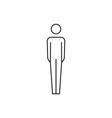 People icon outline vector image vector image