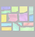 pieces torn colorful blank paper ripped page vector image vector image