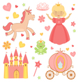Princess icons vector image vector image