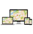 responsive navigation web design concept vector image vector image