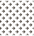 Rounded transparent black arrows seamless pattern vector image vector image