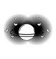 saturn planet pop art icon vector image
