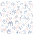 Seamless white pattern with gift boxes in trendy vector image
