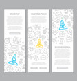 set of startup and business vertical vector image