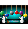 snowmen and christmas vector image