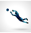 Soccer or football player goalkeeper sportsman vector image