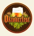 stock raster oktoberfest logo beer vector image vector image