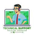 technical support global tech support vector image