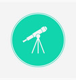 telescope icon sign symbol vector image